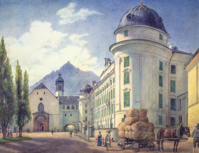 Хофбург в 1845 г.