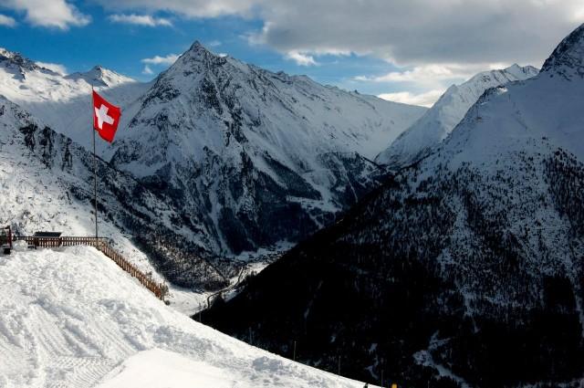 Швейцарский зимний курорт Зас-Фе (нем. Saas-Fee)