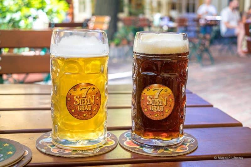 Светлое и темное пиво 7 stern