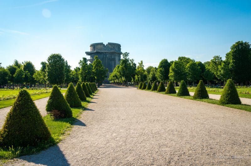 Боевая башня G (Flakturm VII) в парке Аугартен