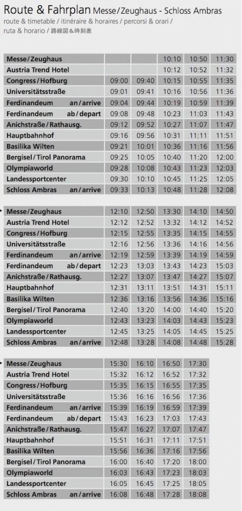 Расписание автобуса из центра
