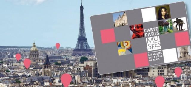 Карта Paris Musées