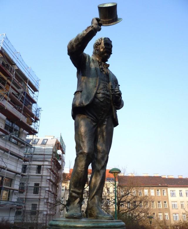 Памятник извозчику на Фиакерплац (Fiakerplatz)