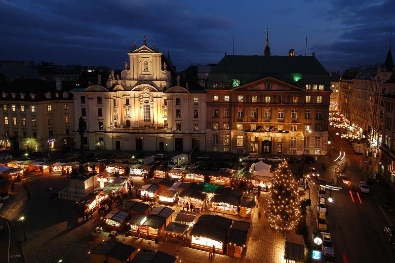 Рождественский базар на площади Ам Хоф