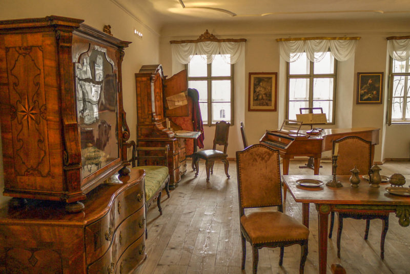 Жилая комната семьи Моцартов