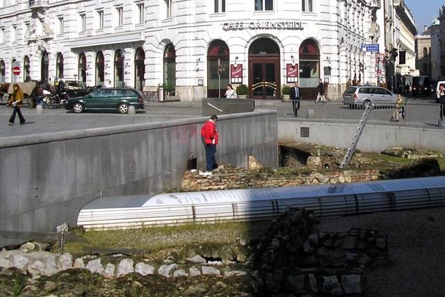 Римские развалины на Михаэлерплац
