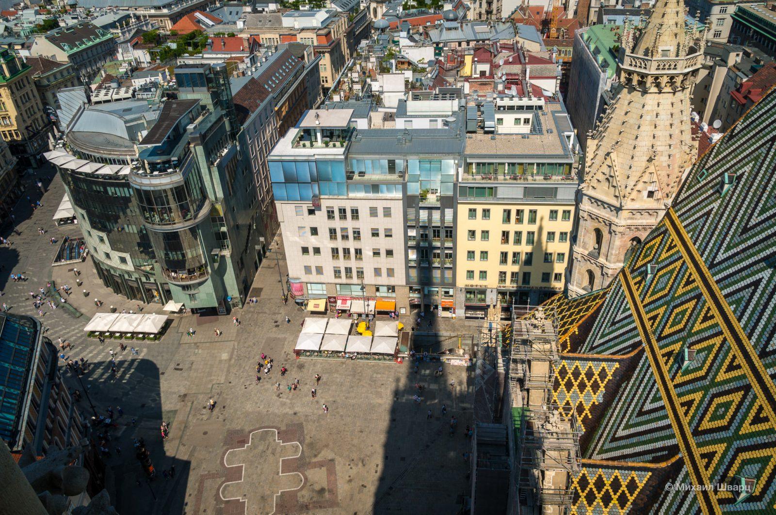 Вид с башни на Штефансплатц