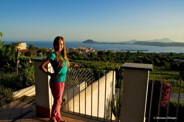 Вид на остров Искья
