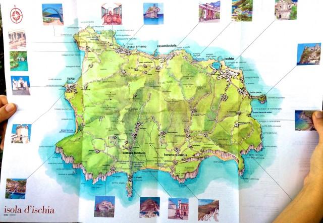 Карта острова Искья