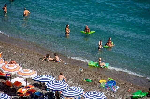 Пляж в Позитано