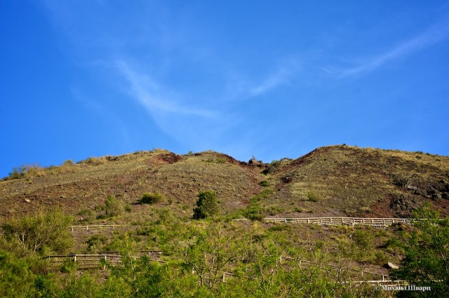 Дорога к кратеру вулкана