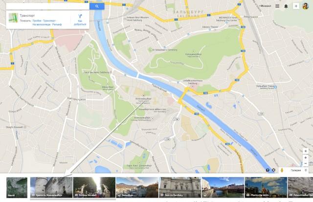 Фотографии на карте Google
