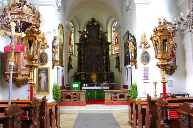 Интерьер замковой церкви St. Jakobus