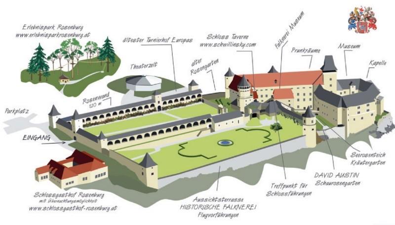 Схема замка Rosenburg