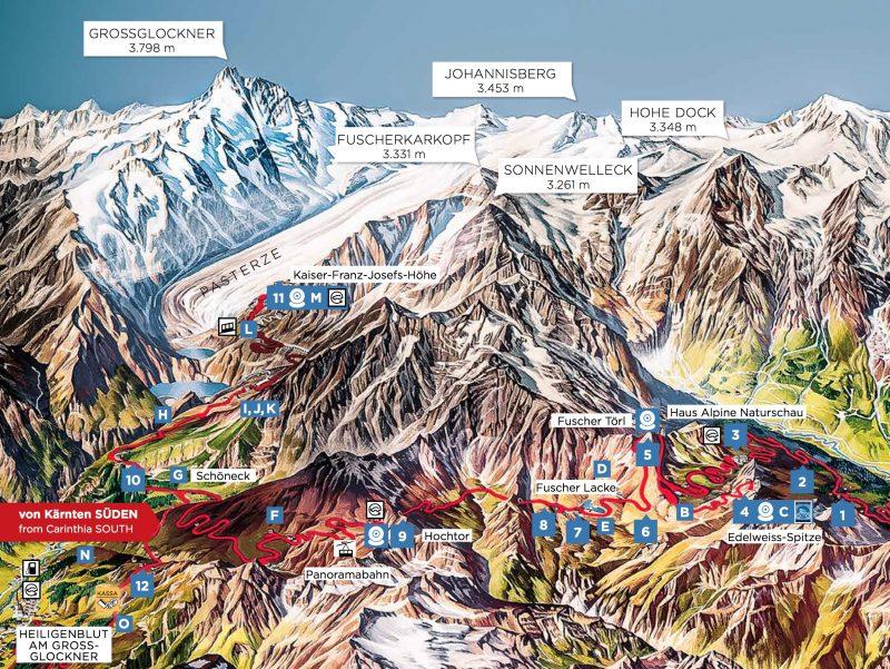 Карта дороги Гроссглокнер