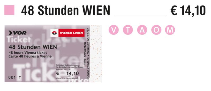 Проездной на 48 часов – €13.3048h Stundenticket /48hour Ticket