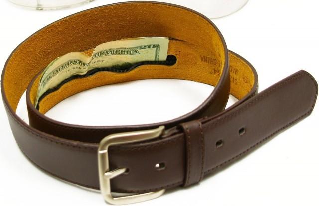 Ремень с потайным карманом - хорошая альтернатива сумке на поясе
