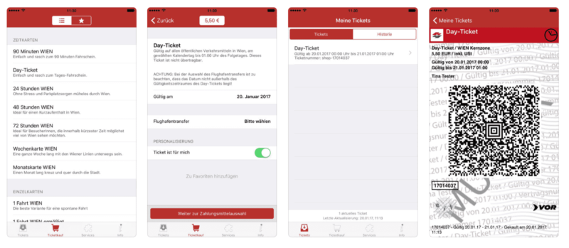 Мобильное приложение для покупки билетов в Вене