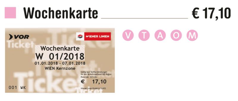 €17.10Wochenkarte проездной на 1 неделю