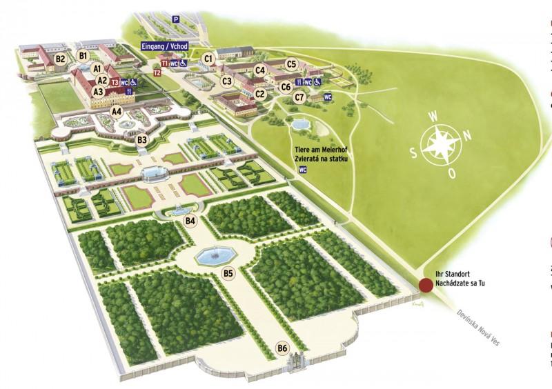 Карта дворца Хоф