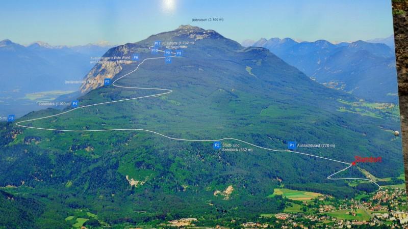Карта Филлахской альпийской дороги