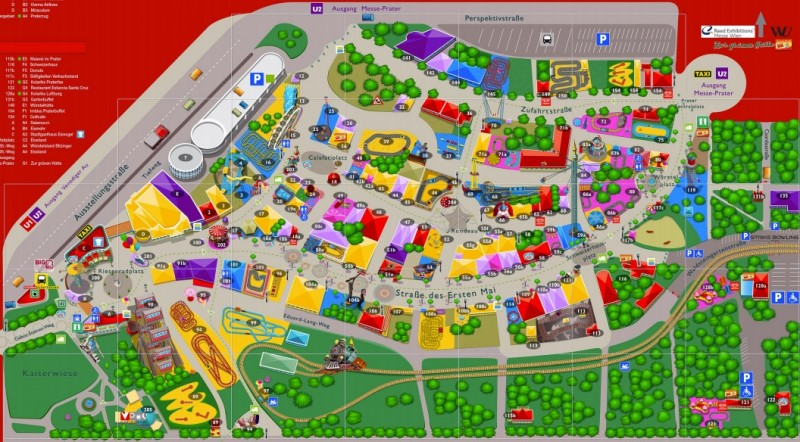 План парка Пратер