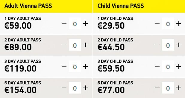 Цены на Vienna Pass