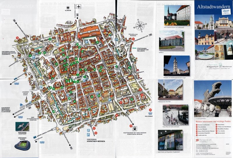 Скачать карту Клагенфурта