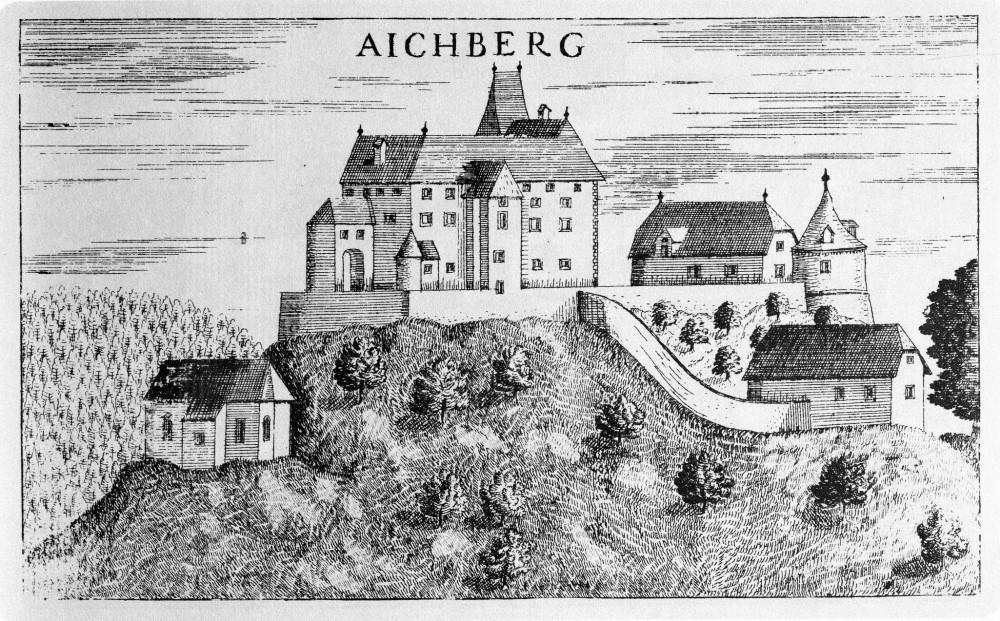 Так выглядел замок в XVII веке