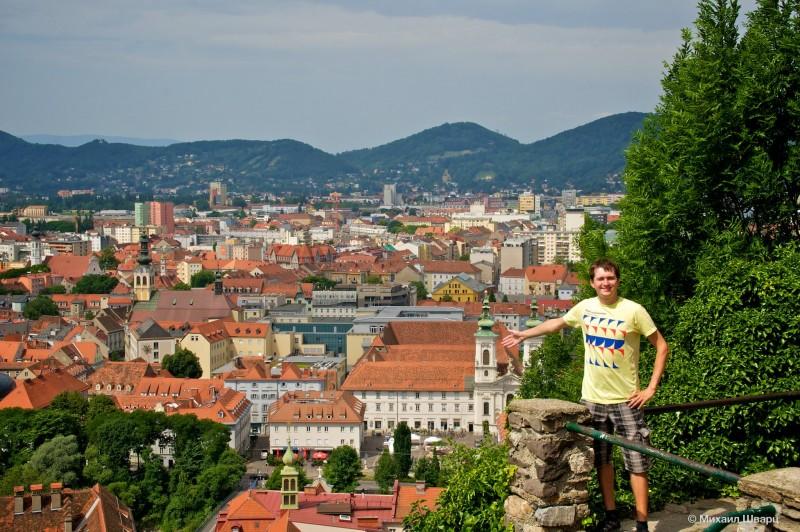 Панорама Грацкий замок