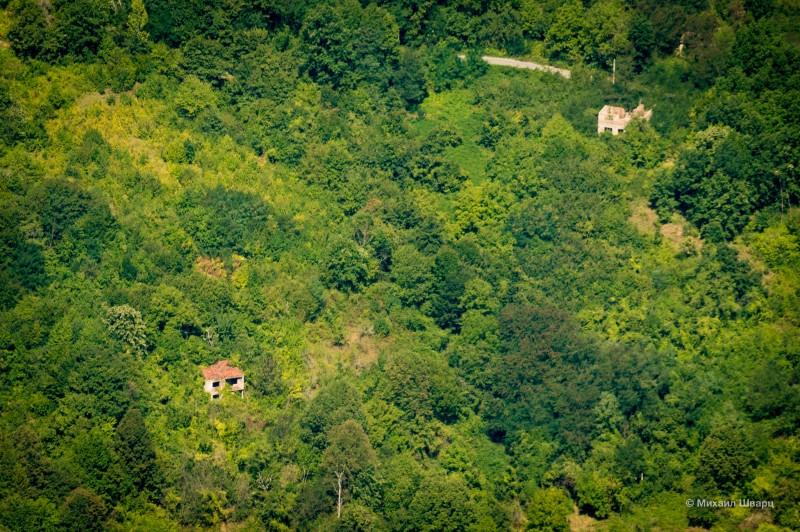 Разрушенные дома в Боснии