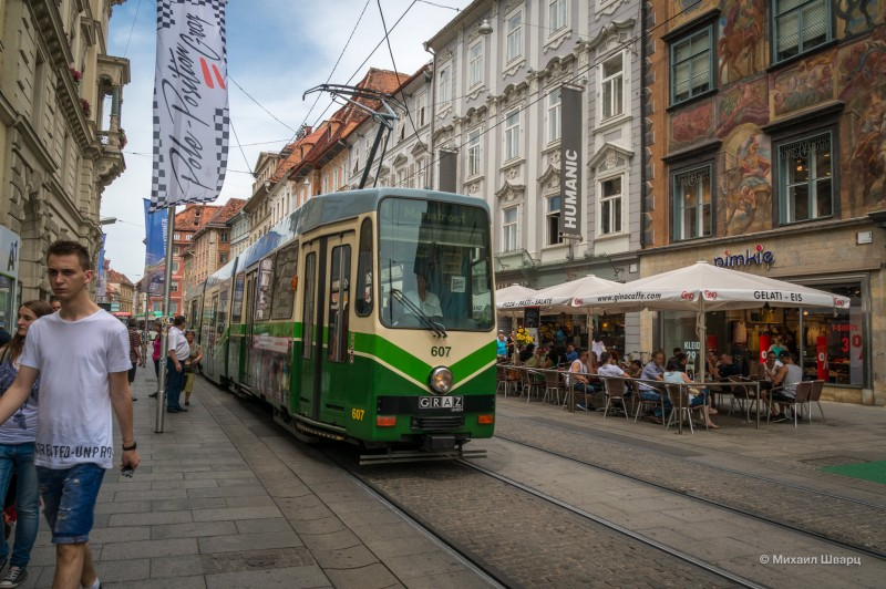 Колоритный трамвайчик