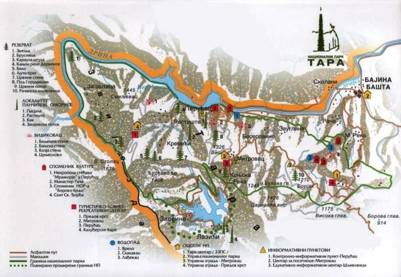 Карта парка Тара