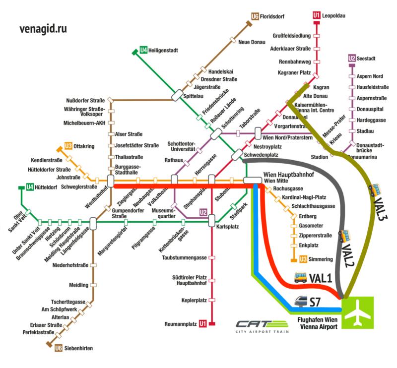 Варианты как добраться из аэропорта Вены