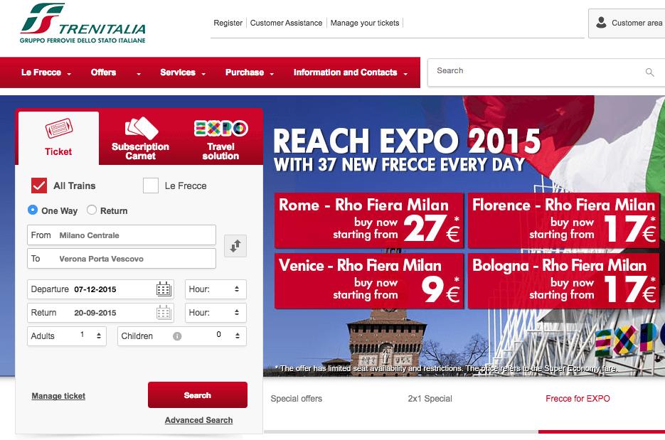 Как купить дешевые билеты по €9 на поезд в Италии