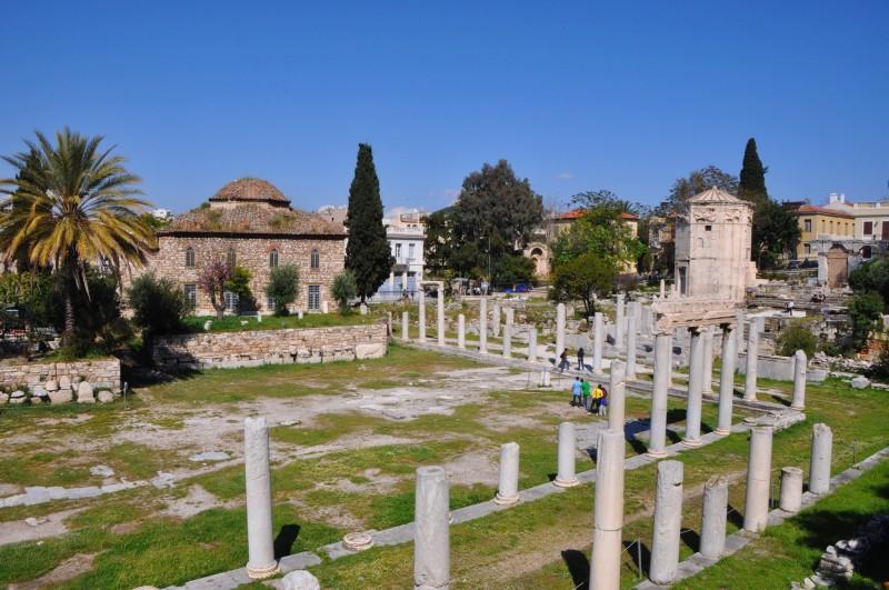 Римская Агора, Башня ветров и мечеть Фетхие-Джами