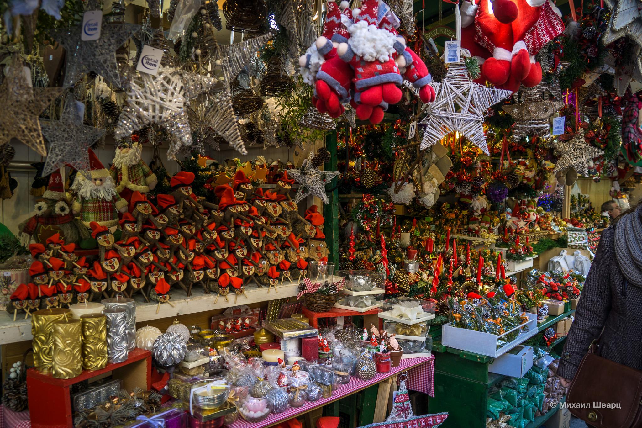 Рождественская ярмарка в Барселоне