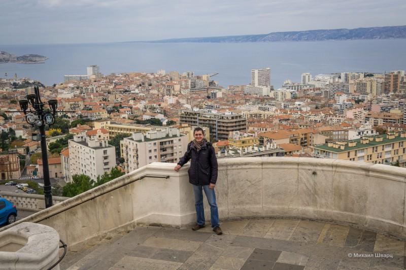 Панорама города с Нотр Дам де ла Гард