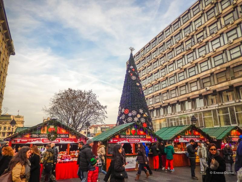Новогодняя ярмарка в Белграде