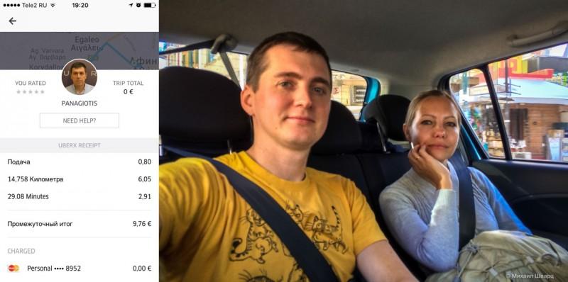 Такси из Афин в Пирей