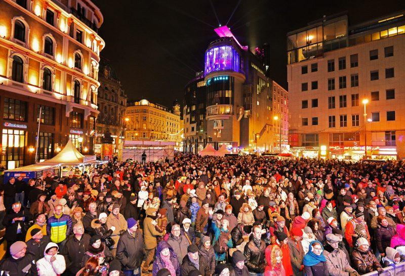 Новогоднее гулянье на Штефансплац
