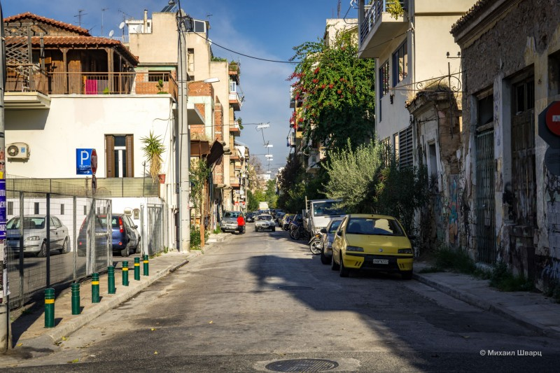 Такая типичная улица Афин