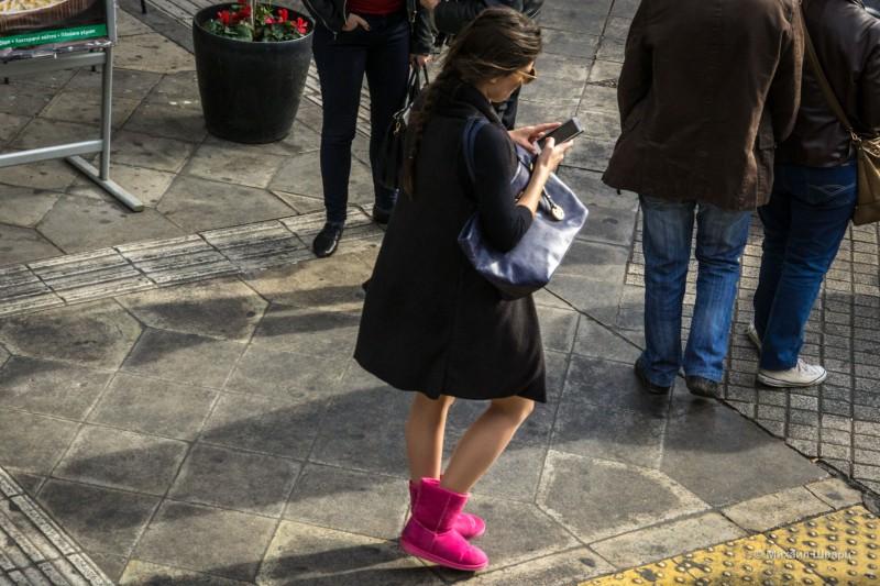Дама в розовых сапожках