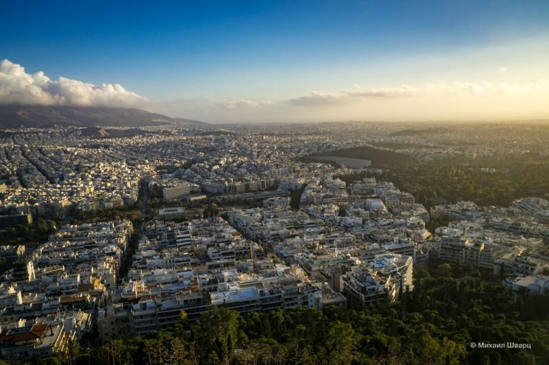 Хорошая панорама Афин