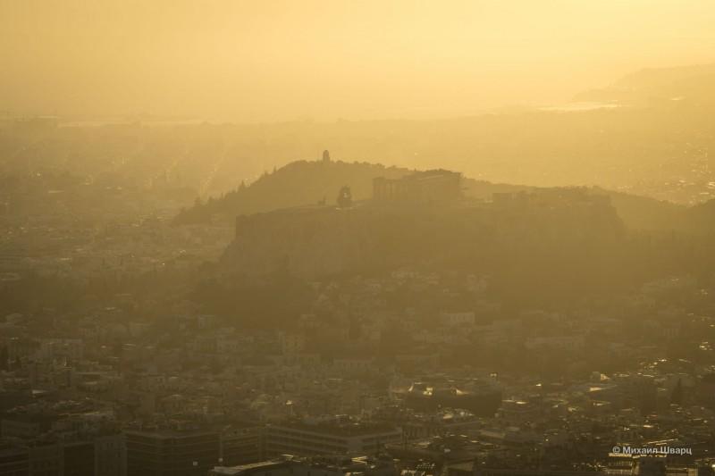 Жаль, что Акрополь в тумане