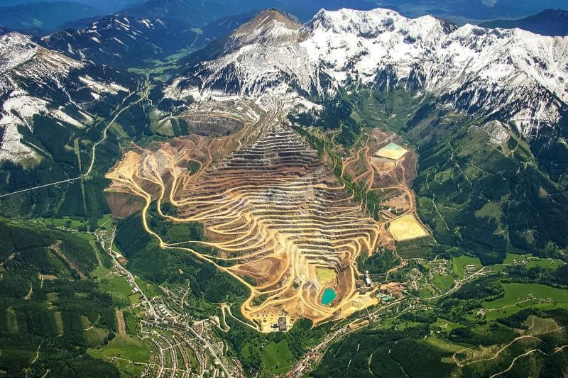 Tеррасы на склонах горы «Железная руда», Айзенэрц