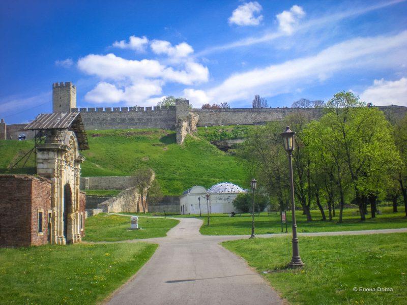 Вид на Белградскую крепость