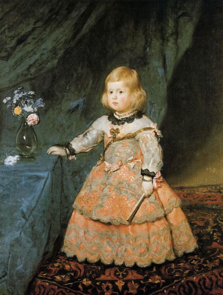 «Портрет инфанты Маргариты в розовом платье», 1653—1654 гг.