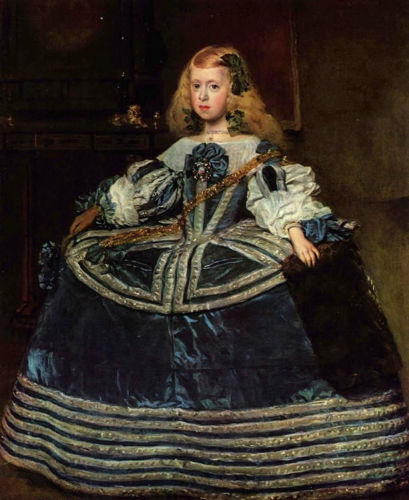 «Портрет инфанты Маргариты в синем платье», 1659 г.