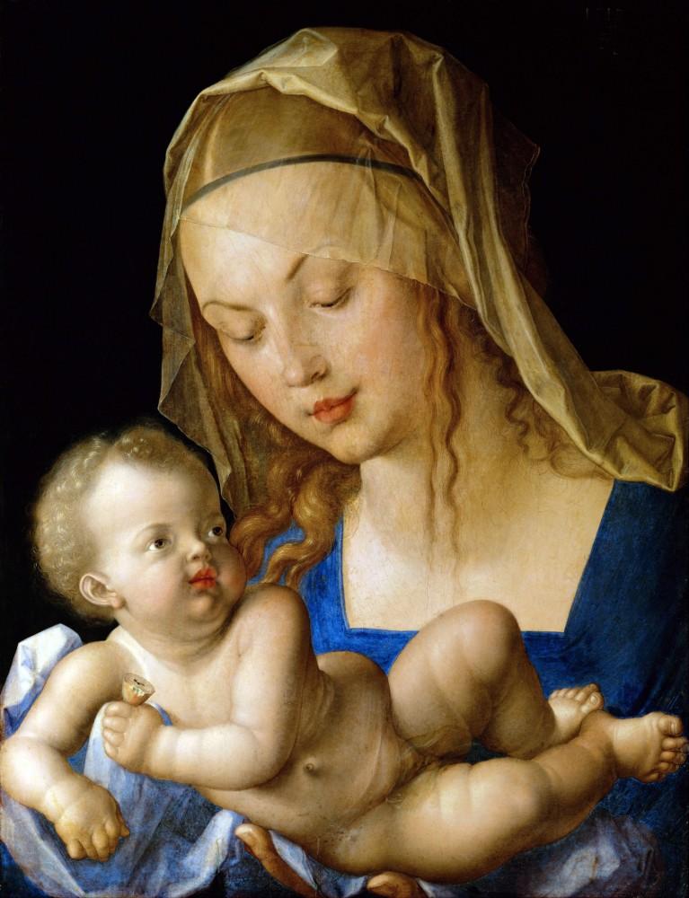«Дева Мария и Младенец с грушей», Дюрер